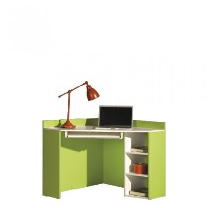 Kancelársky stôl LABYRINT LA 17 (krémová/limetka)