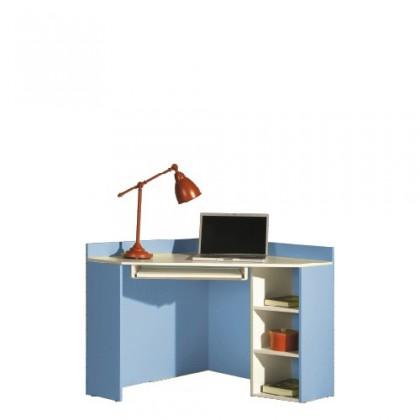 Kancelársky stôl LABYRINT LA 17 (krémová/modrá)