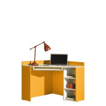 Kancelársky stôl LABYRINT LA 17 (krémová/oranžová)