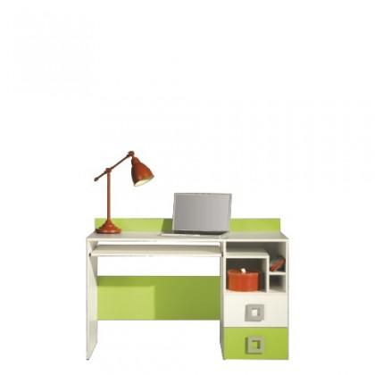 Kancelársky stôl LABYRINT LA 18 (krémová/limetka)