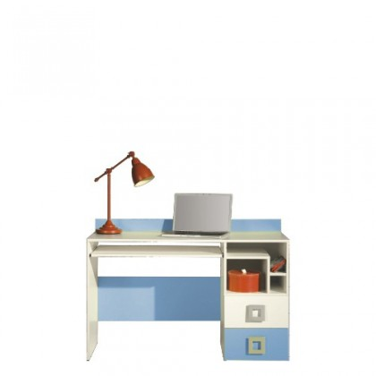 Kancelársky stôl LABYRINT LA 18 (krémová/modrá)