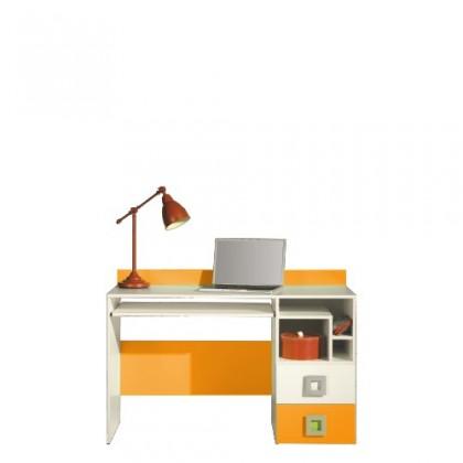 Kancelársky stôl LABYRINT LA 18 (krémová/oranžová)