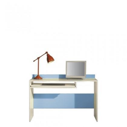 Kancelársky stôl LABYRINT LA 19 (krémová/modrá)