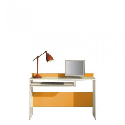 Kancelársky stôl LABYRINT LA 19 (krémová/oranžová)