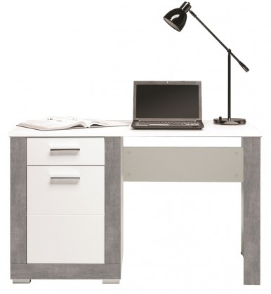 Kancelársky stôl Lightning - Písací stôl (biela, sivá)