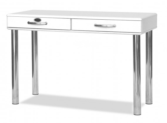 Kancelársky stôl Malibu - Písací stôl (biela, 2x zásuvka)