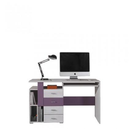 Kancelársky stôl NEXT NX 13 (borovica/fialová)