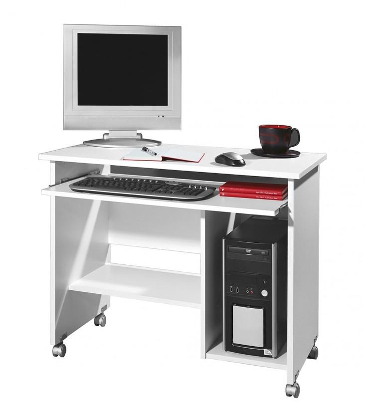 Kancelársky stôl Office - PC stôl (biela)