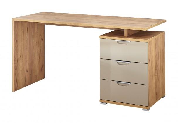 Kancelársky stôl Office - Stôl (dub navarra/piesková)
