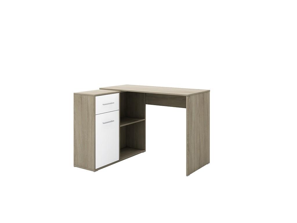 Kancelársky stôl Písací stôl Bent (sonoma, biela)