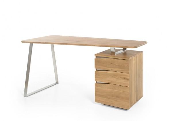 Kancelársky stôl Písací stôl Gaut (dub, strieborná)