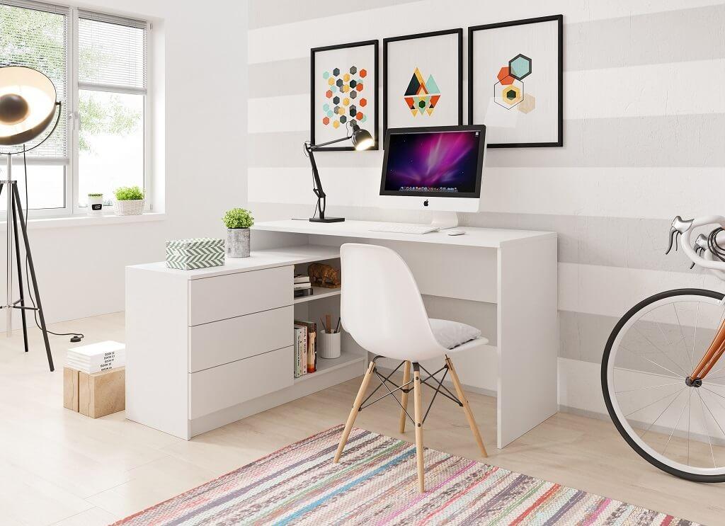 Kancelársky stôl Písací stôl Tungo (biela)