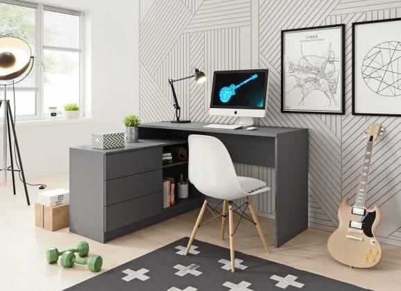 Kancelársky stôl Písací stôl Tungo (grafit)