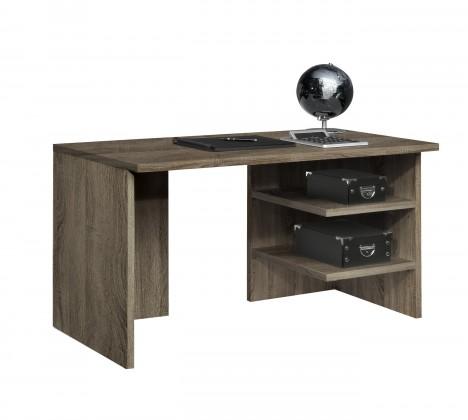 Kancelársky stôl Work - Stôl, 2x police (dub tmavý)
