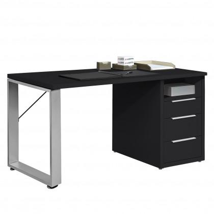 Kancelársky stôl Work - Stôl, 3x zásuvka (antracit)