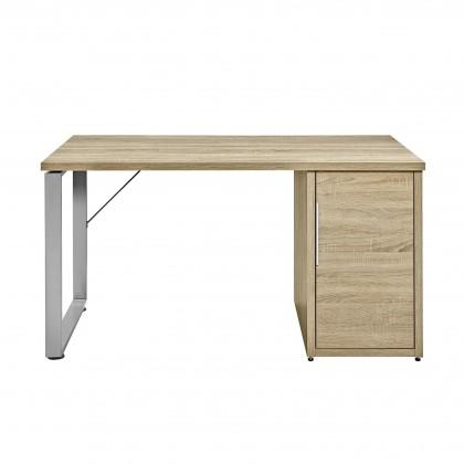 Kancelársky stôl Work - Stôl, skrinka, 1x police, 140x74x70 (dub)