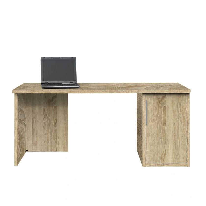 Kancelársky stôl Work - Stôl, skrinka, 1x police, 160x74x70 (dub)