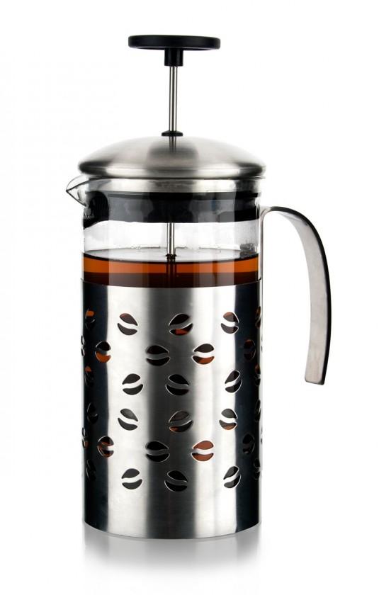 Kanvica na kávu 1l stacey, strieborná