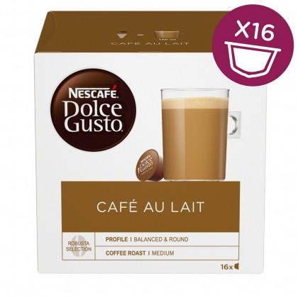 Kapsule, náplne Kapsule Nescafé Dolce Gusto Café Au Lait, 16ks