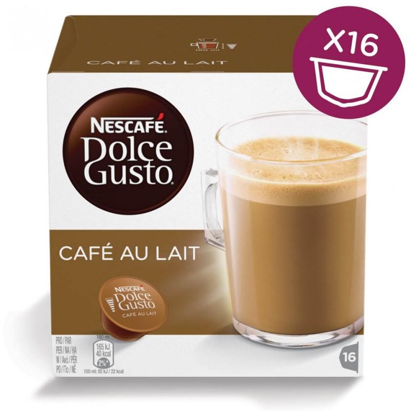 Kapsule, náplne Kapsule Nescafé Dolce Gusto Café Au Lait 16ks