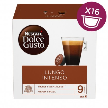 Kapsule, náplne Kapsule Nescafé Dolce Gusto Caffé Lungo Intenso, 16ks