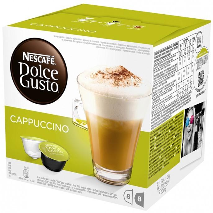 Kapsule, náplne Kapsule Nescafé Dolce Gusto Cappuccino 16ks
