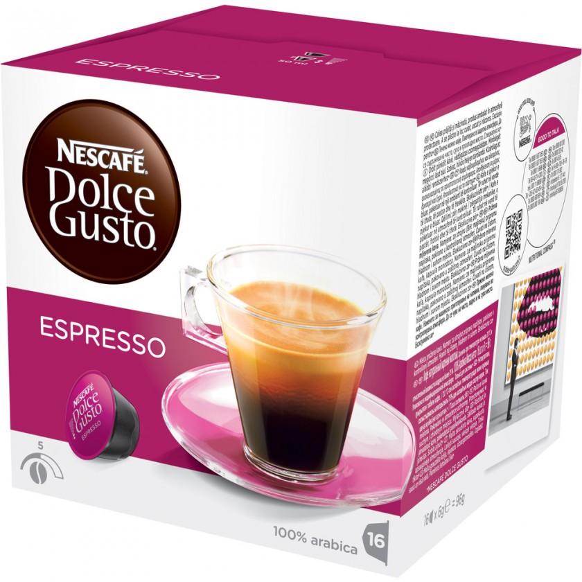 Kapsule, náplne Kapsule Nescafé Dolce Gusto Espresso 16ks