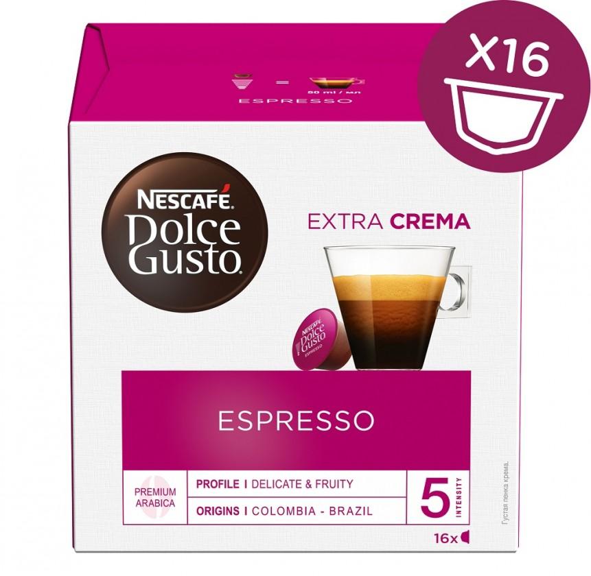 Kapsule, náplne Kapsule Nescafé Dolce Gusto Espresso, 16ks