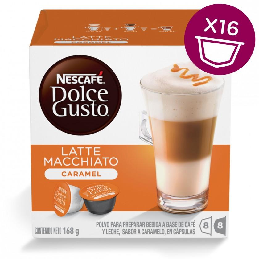 Kapsule, náplne Kapsule Nescafé Dolce Gusto Latte Macchiato Caramel 16ks
