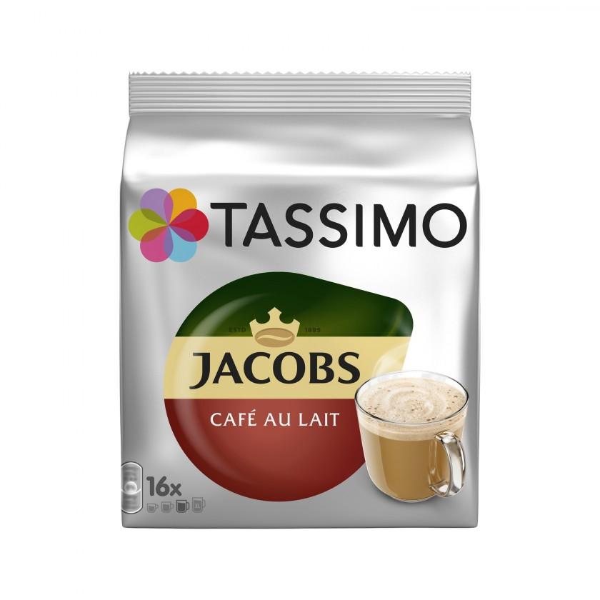 Kapsule, náplne Kapsule Tassimo Jacobs Cafe Au Lait, 16ks