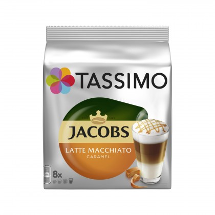 Kapsule, náplne Kapsule Tassimo Jacobs Latte Macchiato Caramel 8 + 8 ks
