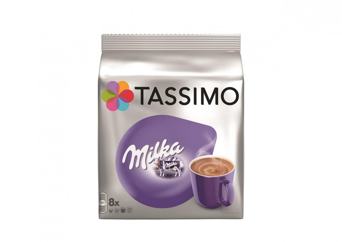 Kapsule, náplne Kapsule TASSIMO Milka 8+8 ks, 240 g