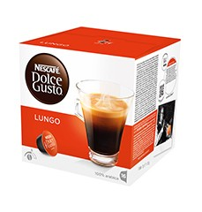 Kapsule, náplne Nescafé Dolce Gusto Caffé Lungo Mild 16ks