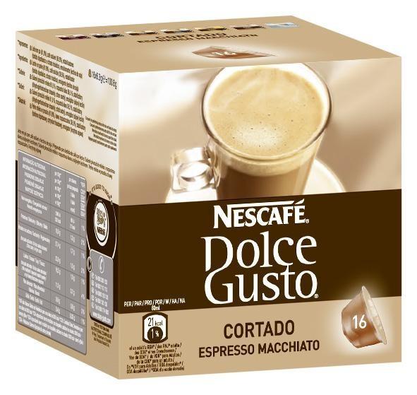 Kapsule, náplne Nescafé Dolce Gusto Cortado 16ks