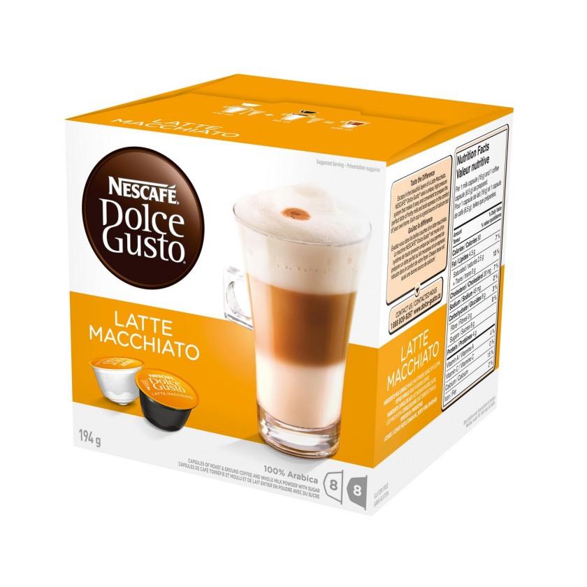 Kapsule, náplne Nescafé Dolce Gusto Latte Macchiato 16ks