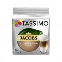 Kapsule Tassimo Jacobs Latte Macchiato, 8 + 8ks