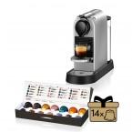 Kapsuľový kávovar KRUPS Citiz XN741B10 strieborny
