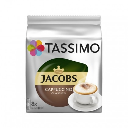 Kapsuly do kávovaru Kapsule Tassimo Jacobs Cappuccino, 8 + 8ks