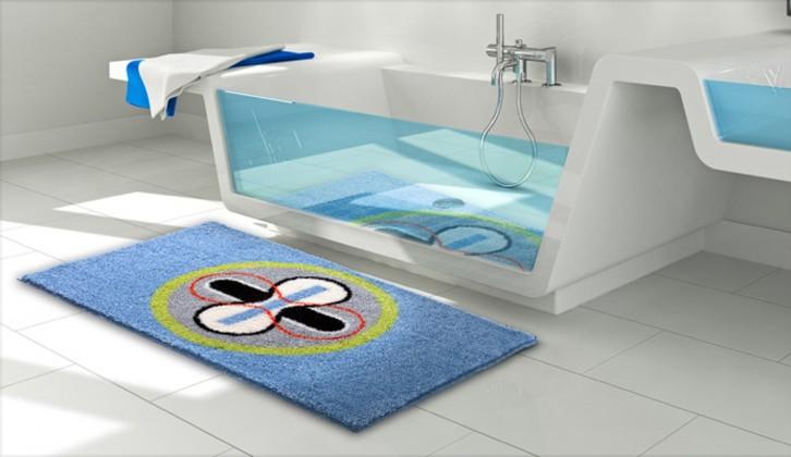 Karim 01 - Kúpeľňová predložka 60x100 cm (modrá)