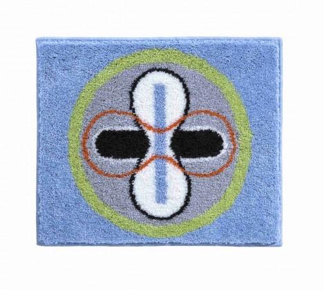 Karim 01 - Kúpeľňová predložka malá 60x50 cm (modrá)