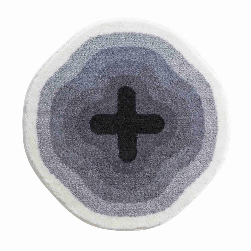 Karim 03 - Předložka kruh 90 cm (sivá)