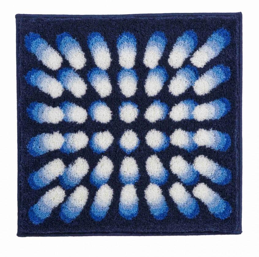 Karim 07 - Kúpeľňová predložka malá 60x60 cm (modrá)