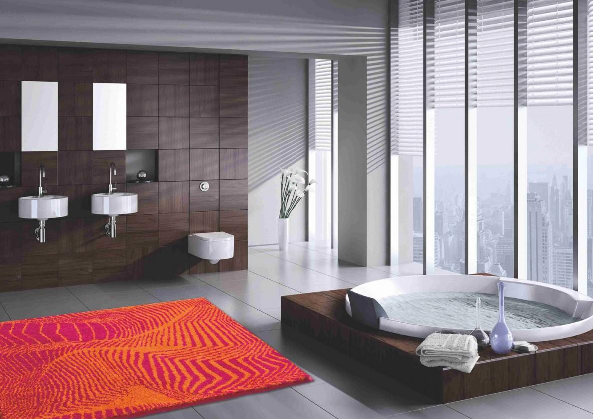 Karim 13 - Kúpeľňová predložka 60x100 cm (červená)