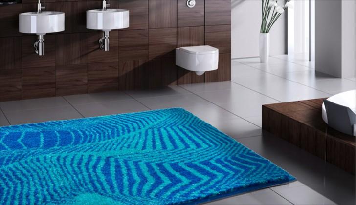 Karim 13 - Kúpeľňová predložka 60x100 cm (modrá)