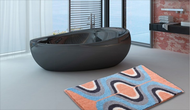 Karim 18 - Kúpeľňová predložka 70x120 cm (meruňková)