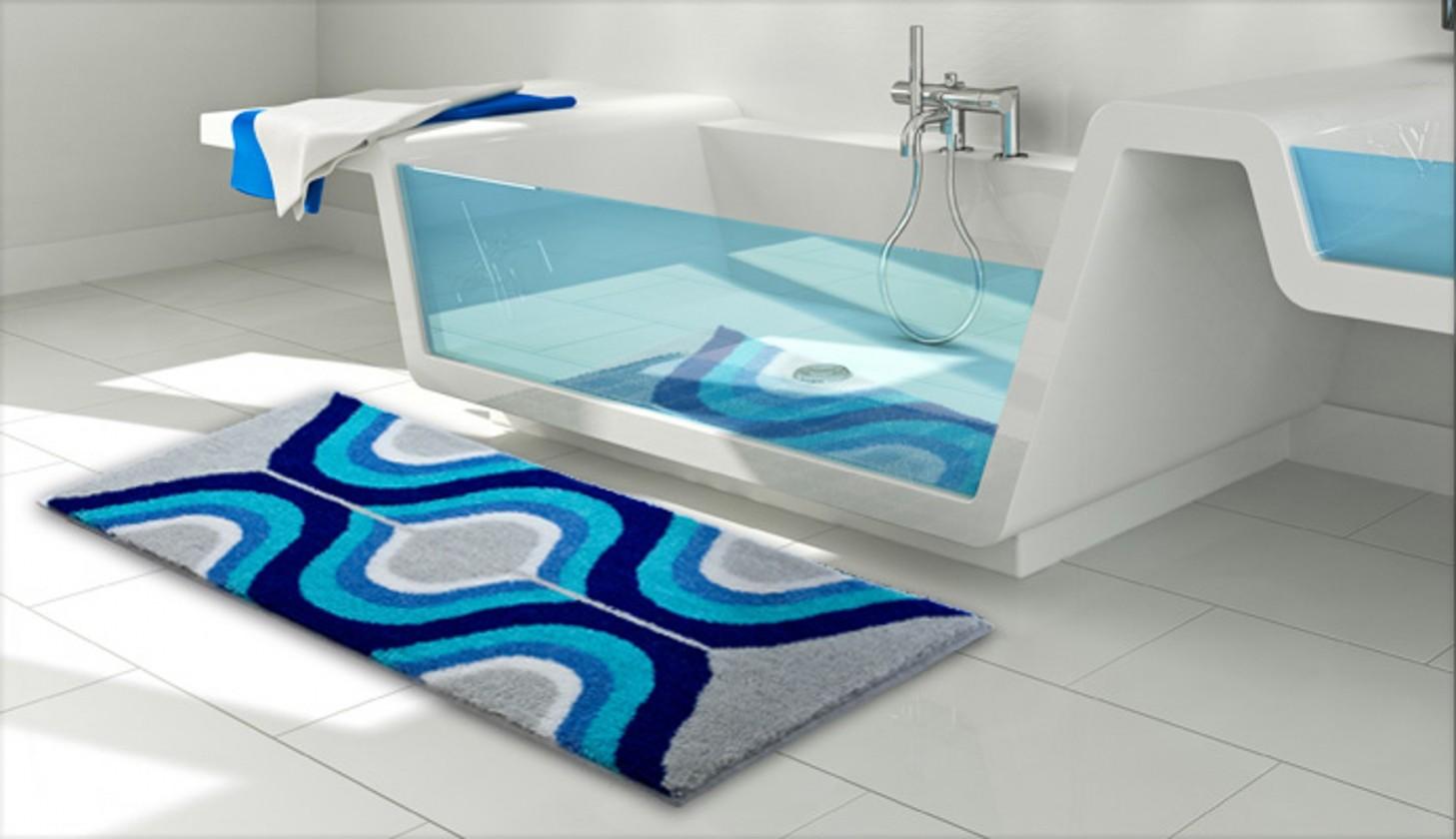 Karim 18 - Kúpeľňová predložka 70x120 cm (sivá)