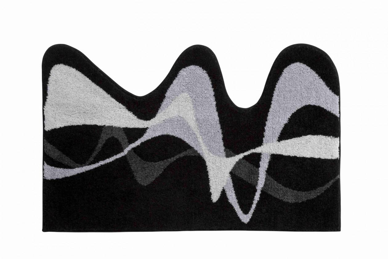 Karim 19 - Kúpeľňová predložka 50x80 cm (čierna)