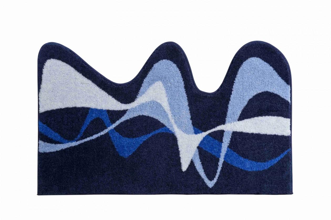 Karim 19 - Kúpeľňová predložka 75x120 cm (modrá)