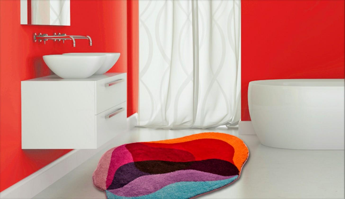 Karim 21 - Kúpeľňová predložka 90x130 cm (červená)