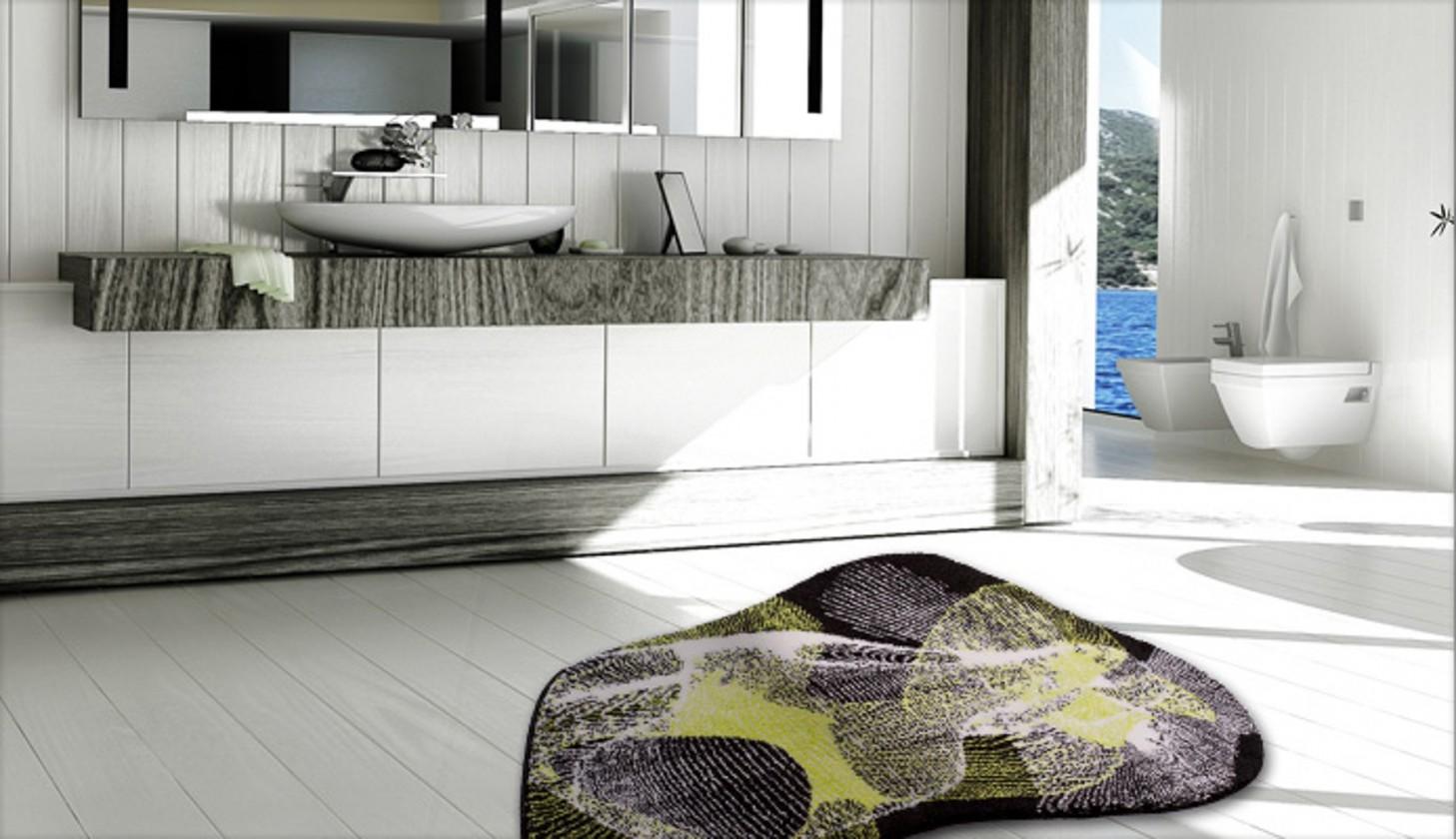 Karim 27 - Kúpeľňová predložka 80x150 cm (zelená)